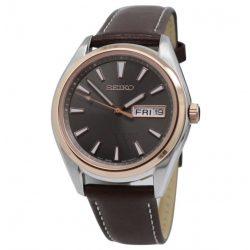 Seiko női Neo klasszikus bőr barna számlap óra karóra SE-SUR452