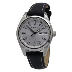 Seiko női Neo klasszikus bőr ezüst- számlap óra karóra SE-SUR455