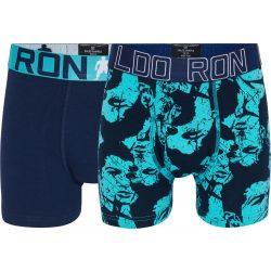 Cristiano Ronaldo gyerek alsónadrág 2db-os 8400-51-548 kék mintás/kék minta 10/12