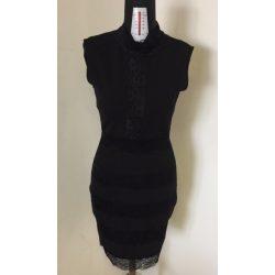 Emamoda fekete női csipkés ruha M-es méret /kac