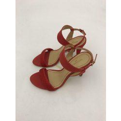 Montonelli Prémium Valódi Bőr  női piros magassarkú cipő 35 /kac