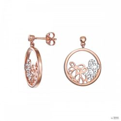 Esprit Női fülbevaló ékszer ezüst RosĂŠ cirkónia Delicate Bouquet ESER92948A000