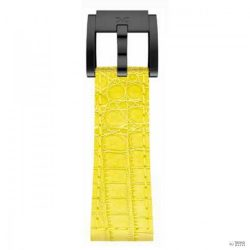 TW Steel  Marc Coblen karkötő Óra Karóraszíj bőr 22 mm Kroko sárga LB_Y_K_B