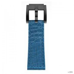 TW Steel  Marc Coblen karkötő Óra Karóraszíj bőr 22 mm Kroko Kék LB_BL_K_B