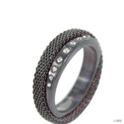 Skagen Női gyűrű fekete Migyapjúise JRSD016 S6 Gr. 52 (16,5)