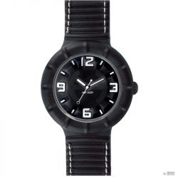 Hip Hop óra  óra bőr nagyméretű HWU0211 fekete