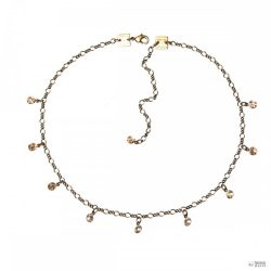 Konplott Lánc nyaklánc Tutui Collectionbézs köves aranyen ezüst