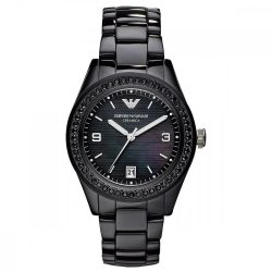ARMANI női fekete Quartz óra karóra AR1423