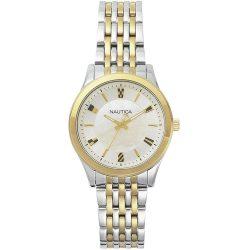 NAUTICA női ezüst,arany Quartz óra karóra NAPVNC004