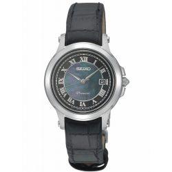 SEIKO női fekete Quartz óra karóra SXDE05P1