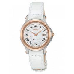 SEIKO női fehér Quartz óra karóra SXDE42P2