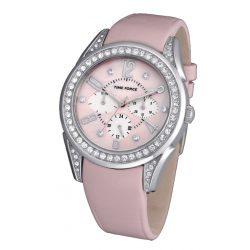 TIME FORCE női rózsaszín Quartz óra karóra TF3375L02