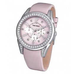 TIME FORCE női rózsaszín Quartz óra karóra TF3375L06