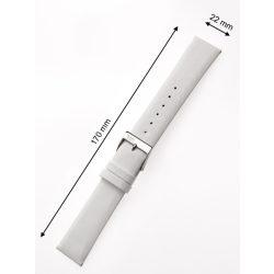 Perigaum bőr szíj 22 x 170 mm fehérezüst kapocs Karkötő