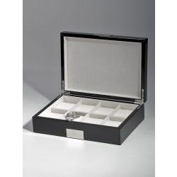 Rothenschild óra karóra doboz RS-2022-8BL for 8 óra karóra fekete óra karórabox