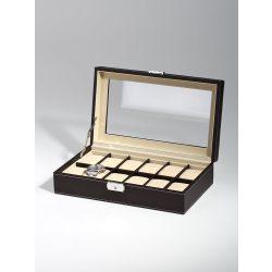 Rothenschild óra karóra doboz RS-1098-12DBR for 12 óra karóra barna óra karórabox