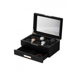 Rothenschild óra karóra & ékszer doboz RS-2351-10BL for 10 óra karóra fekete óra karórabox