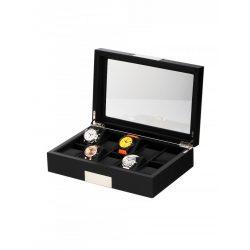 Rothenschild óra karóra doboz RS-2350-10BL for 10 óra karóra fekete óra karórabox