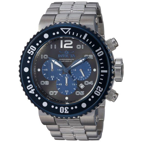 Invicta férfi Pro Diver Quartz óra karóra - szíj, ezüst, 29.3 (Model: 25074)