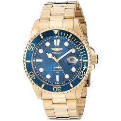 Invicta férfi Pro Diver Quartz óra karóra nemesacél szíj, arany, 22 (Model: 30024)
