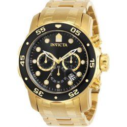 Invicta férfi 0072 Pro Diver Collection  Kronográf Óra 18k arany- óra karóra, arany/fekete