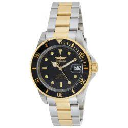 Invicta férfi 8927OB Pro Diver 18k aranyozott bevonatú és nemesacél óra karóra, két tónusú/fekete