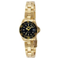 Invicta női Pro Diver 24.5mmarany  nemesacél Quartz óra karóra, arany/fekete (Model: 8943)