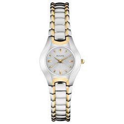 Bulova női 23mm klasszikus két tónusú arany színű és ezüst óra karóra