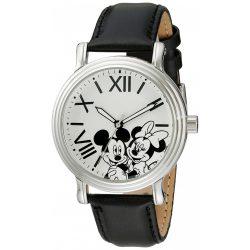 Disney női W001860 Mickey & Minnie analóg kijelző analóg Quartz fekete óra karóra